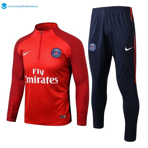 Futbol Chandal Paris Saint Germain 2017/2018 Rojo